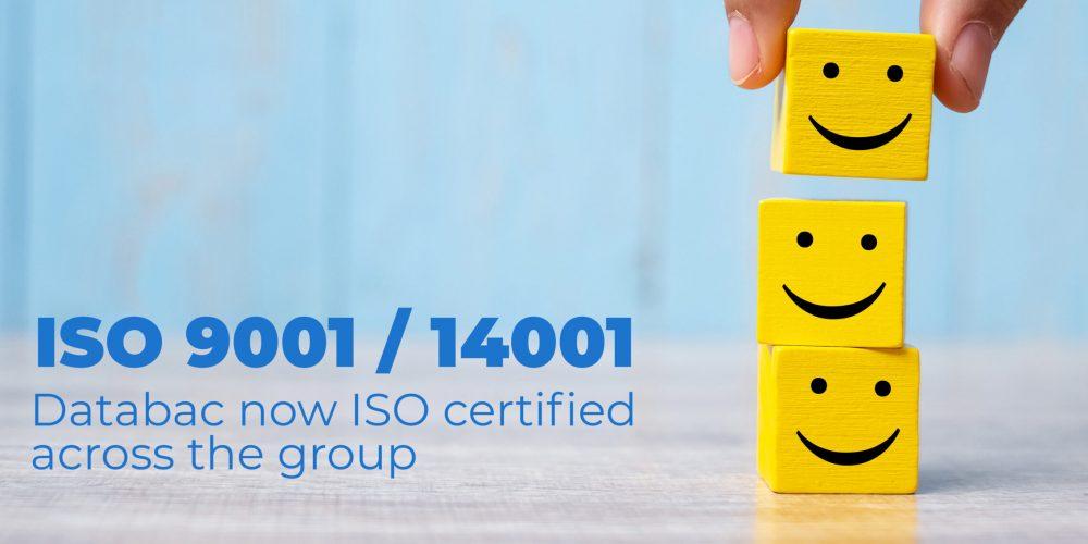 Databac consigue certificación ISO en todo el grupo