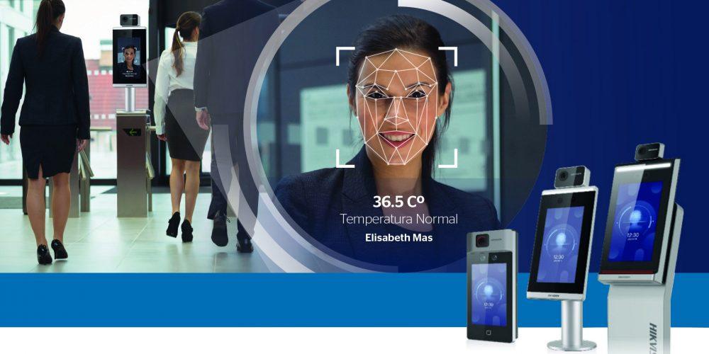 Hikvision, control de acceso biométrico con detección de temperatura
